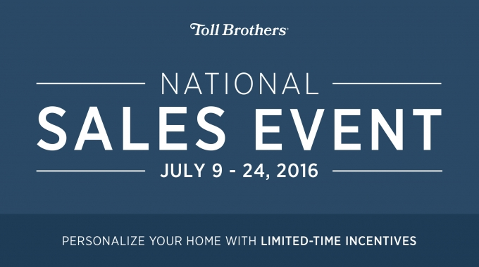 Toll Brothers National Luxury Home Sales Event